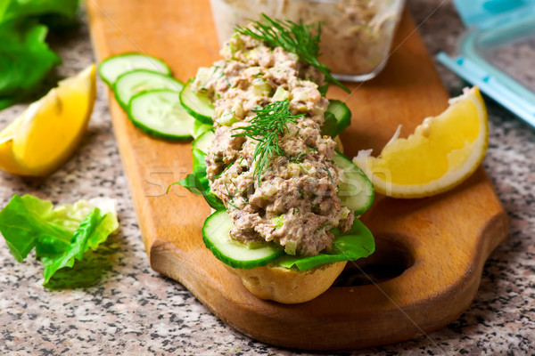Tuna salad sandwich.style rustic. Stock photo © zoryanchik