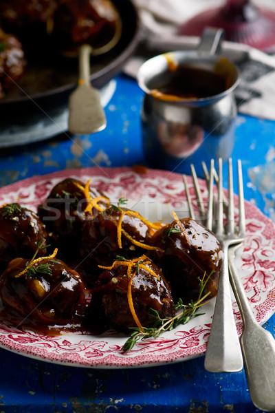 Anatra polpette gambe cena carne verdura Foto d'archivio © zoryanchik
