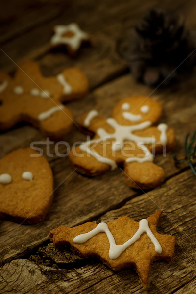 Maison gingembre cookies bois Noël paysages Photo stock © zoryanchik