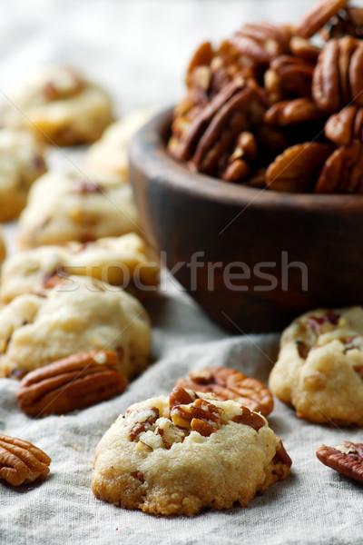 pecan cookies.style rustic Stock photo © zoryanchik