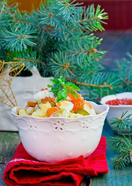 Russo insalata tradizionale nuovo anni alimentare Foto d'archivio © zoryanchik