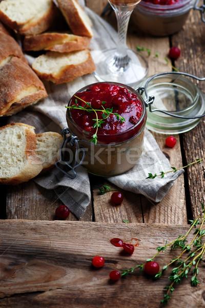 Cranberry Chicken Liver Pate Stock photo © zoryanchik