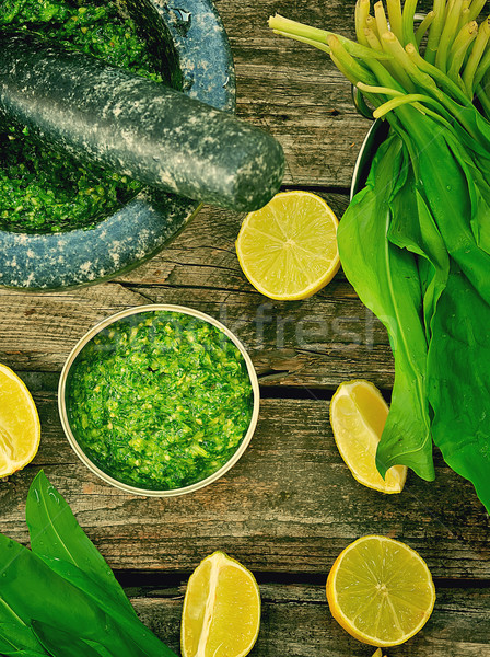 bear's onion pesto. Stock photo © zoryanchik