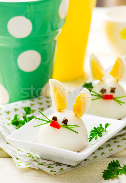 Boiled Egg Bunny Rabbit  Stock photo © zoryanchik