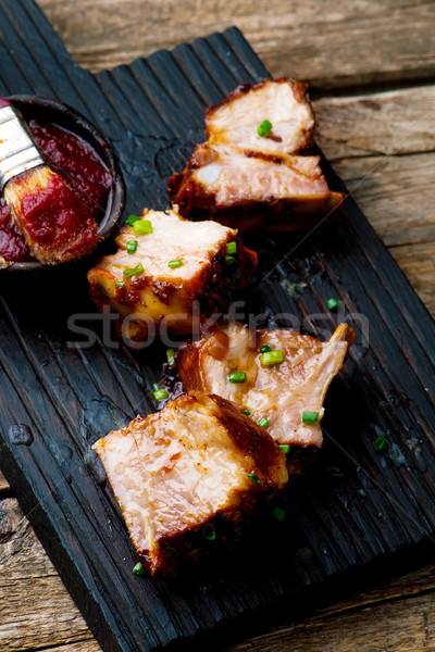 Country Style Ribs Stock photo © zoryanchik