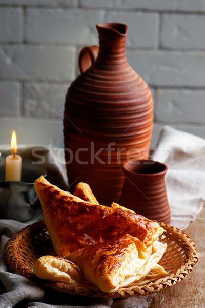 Khachapuri, traditional Georgian pie. style rustic Stock photo © zoryanchik