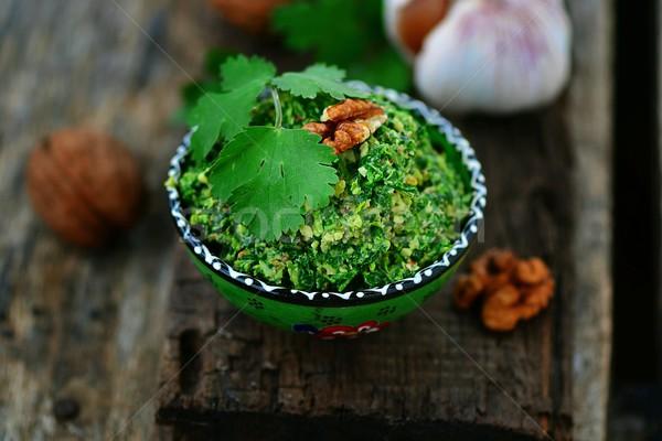 spinach pkhali. georgian appetizer Stock photo © zoryanchik