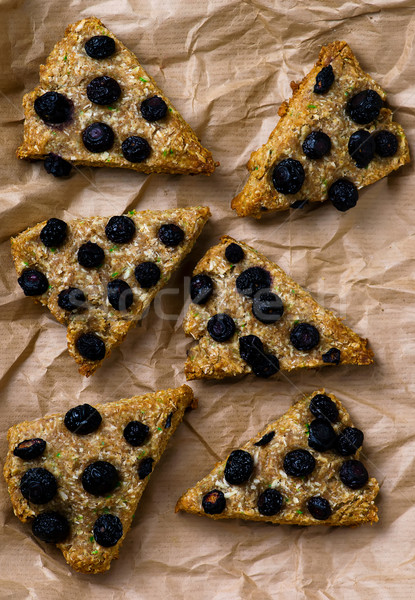 wholegrain skone with blueberry Stock photo © zoryanchik