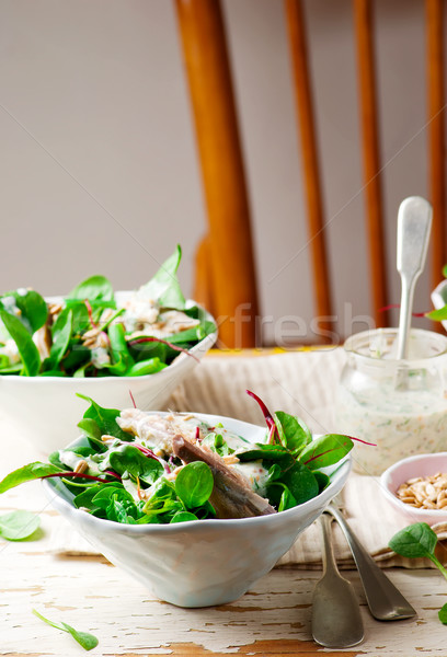 Verde fumado cavala salada estilo vintage Foto stock © zoryanchik