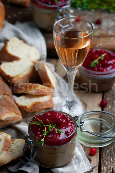 Cranberry Chicken Liver Pate Stock photo © zoryanchik