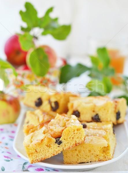 Stock fotó: Almák · pite · házi · készítésű · mazsola · nyár · gyümölcsök