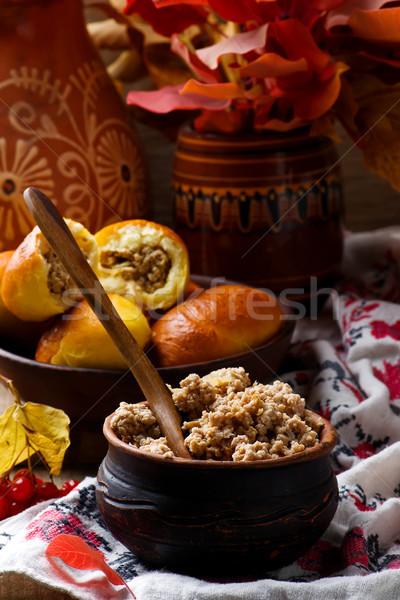 Stuffing for pie from beef.  Stock photo © zoryanchik