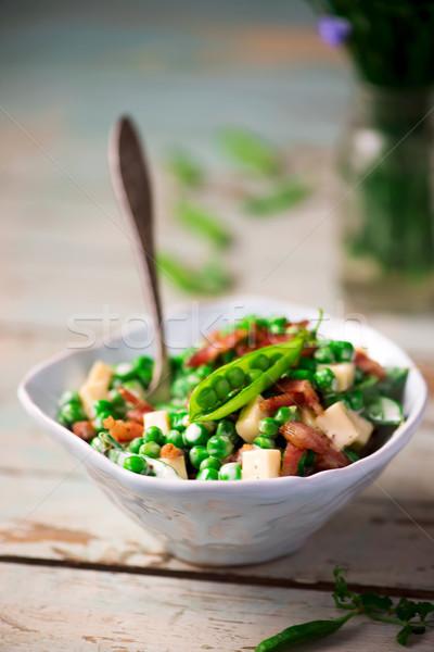 Cremoso verde ensalada enfoque alimentos cena Foto stock © zoryanchik