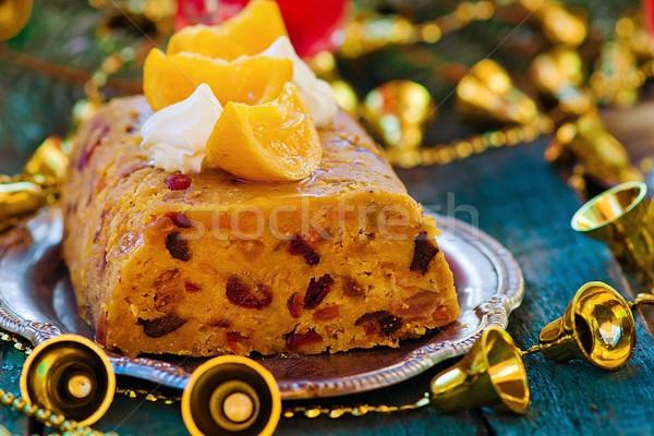 fruit Christmas pudding Stock photo © zoryanchik