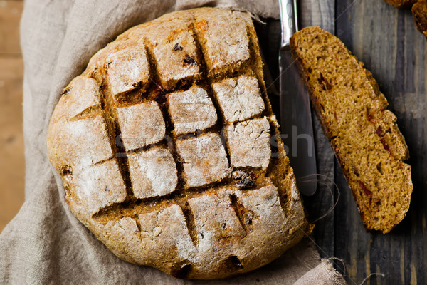 home-made bread with bran  Stock photo © zoryanchik