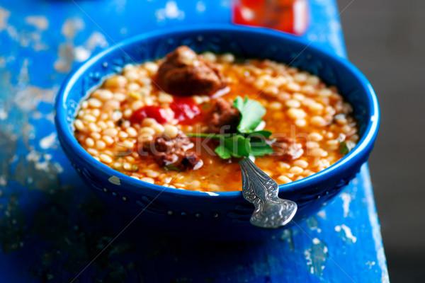 Couscous soep voedsel Rood lunch Stockfoto © zoryanchik