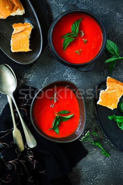Pörkölt bors paradicsomleves vegan étel Stock fotó © zoryanchik