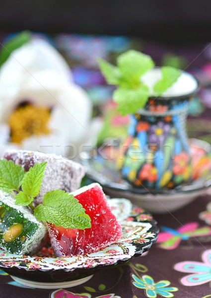 ocum , turkish traditional delight Stock photo © zoryanchik