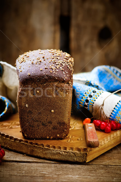 traditional Russian rye Borodino bread Stock photo © zoryanchik