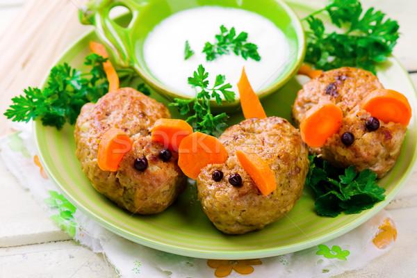 fanny minced meat mouse  Stock photo © zoryanchik