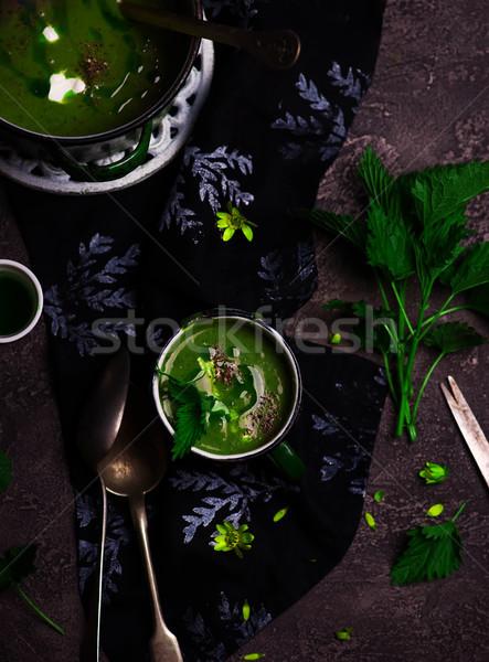 スープ ニンニク 油 スタイル ストックフォト © zoryanchik
