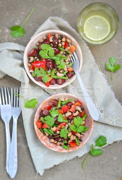bean salad  Stock photo © zoryanchik