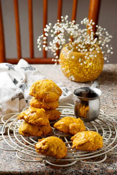カボチャ クッキー シナモン 素朴な 秋 デザート ストックフォト © zoryanchik