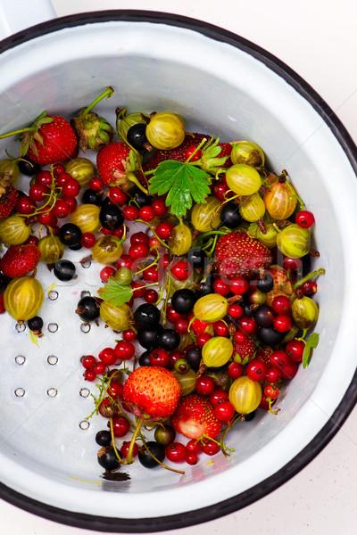 Photo stock: Tous · organique · été · baies · aliments · sains · style