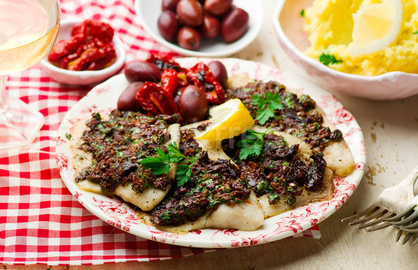 Mediterranean Spiced Fish Fillets Stock photo © zoryanchik
