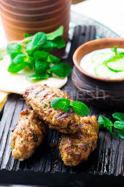Zdjęcia stock: Kurczaka · pita · żywności · mięsa · biały · świeże