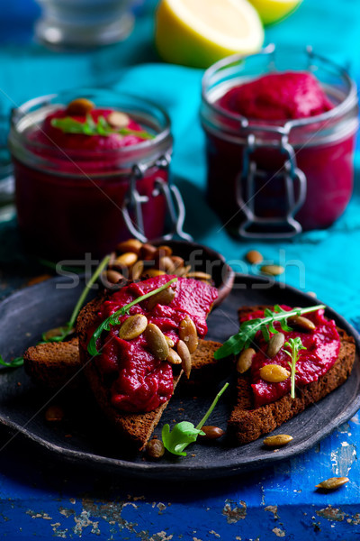 awesome beetroot butter Stock photo © zoryanchik