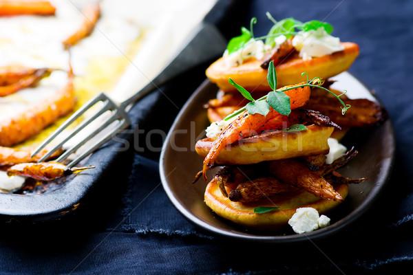 Salado picante zanahorias atención selectiva Foto stock © zoryanchik