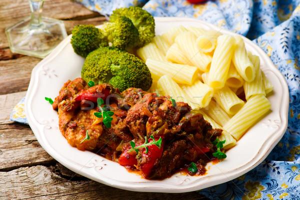 Slow Cooker Mediterranean-Style Chicken. Stock photo © zoryanchik