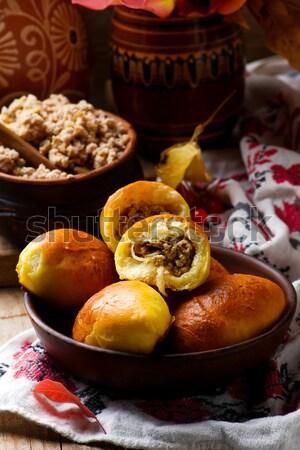 Homemade pirogi .traditional Russian pastries Stock photo © zoryanchik