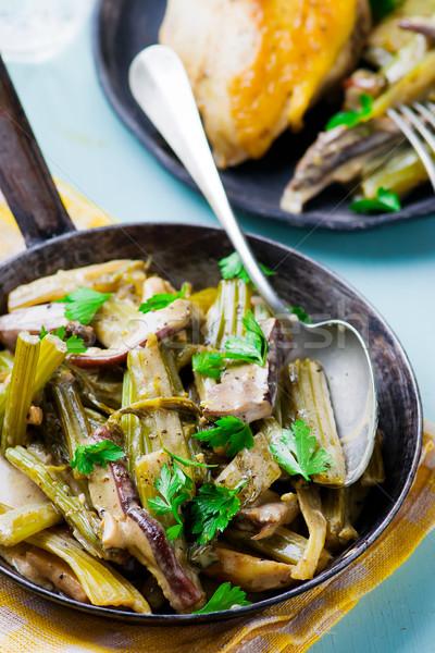 Kereviz bağbozumu tava seçici odak gıda öğle yemeği Stok fotoğraf © zoryanchik