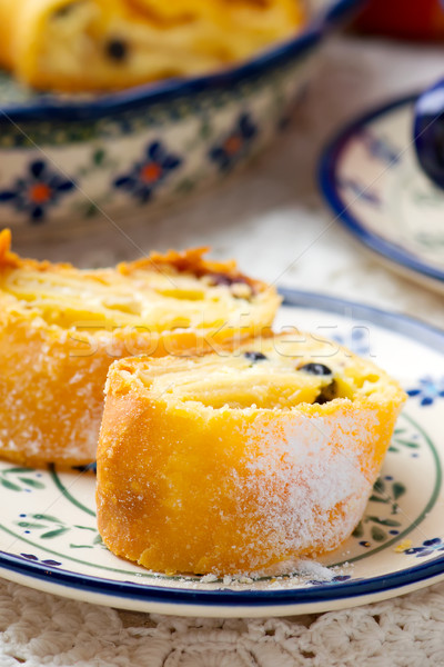 cottage cheese strudel .selective focus.  Stock photo © zoryanchik
