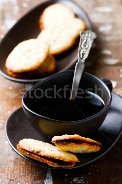 Rústico alimentos postre frescos cookie saludable Foto stock © zoryanchik