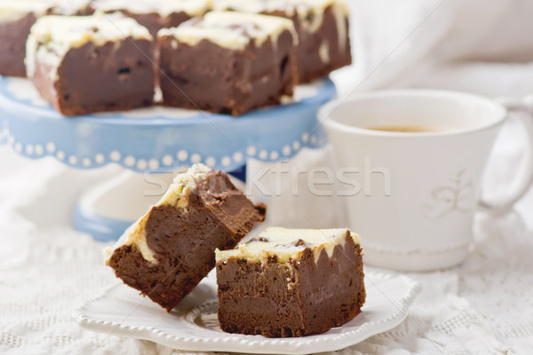 slices chocolate brownie  o Stock photo © zoryanchik