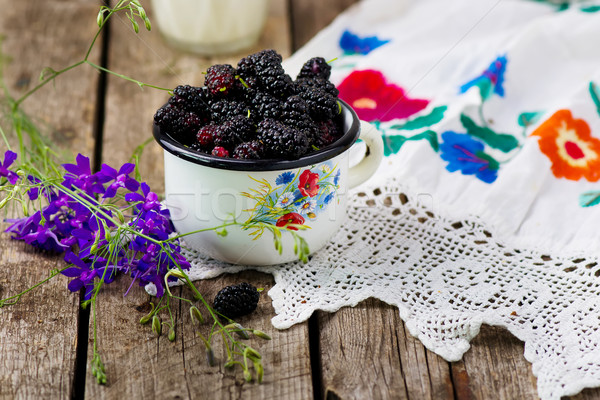 the berries of an organic mulberry  Stock photo © zoryanchik