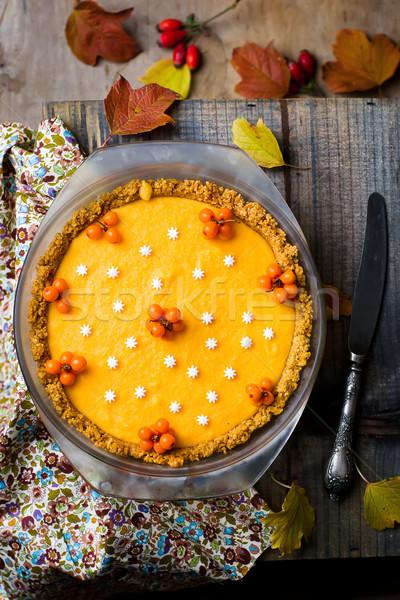 pumpkin ice cream pie   Stock photo © zoryanchik