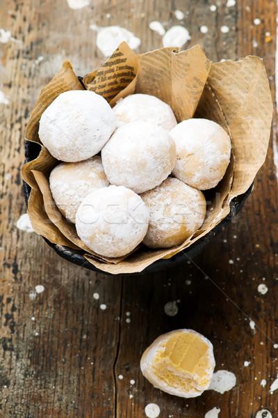 Rapide facile pas cuire beurre d'arachide mise au point sélective Photo stock © zoryanchik