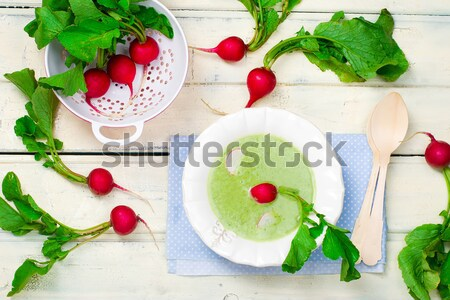 fresh, organic garden radish  Stock photo © zoryanchik