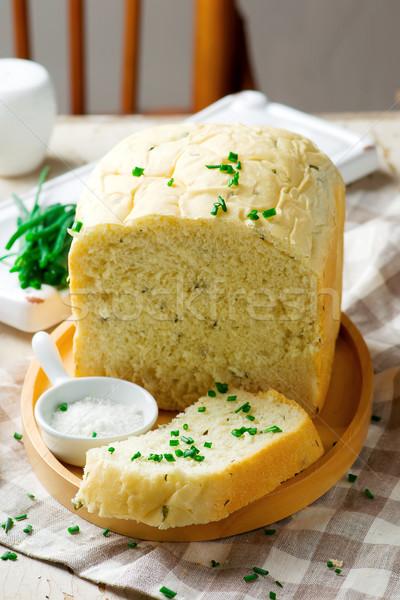sour cream chive bread .style rustic Stock photo © zoryanchik