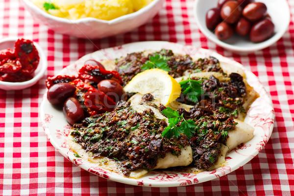 Mediterranean Spiced Fish Fillets Stock photo © zoryanchik