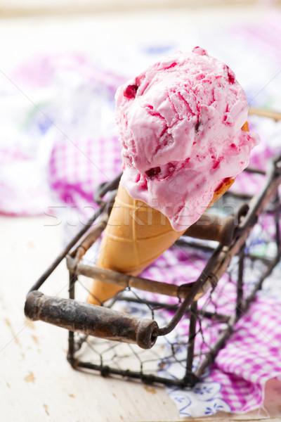 Eis Stil Jahrgang selektiven Fokus Essen Stock foto © zoryanchik