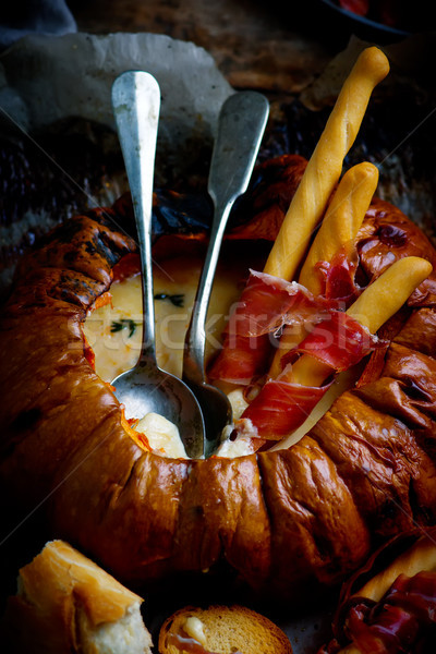 baked pumpkin fondue.style rustic.selective focus Stock photo © zoryanchik