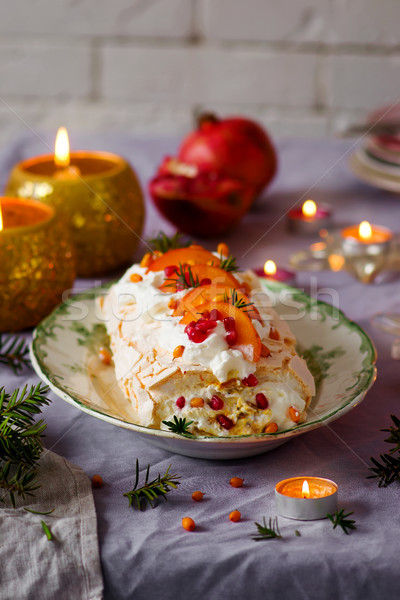 Inverno fruto vintage comida fundo bolo Foto stock © zoryanchik