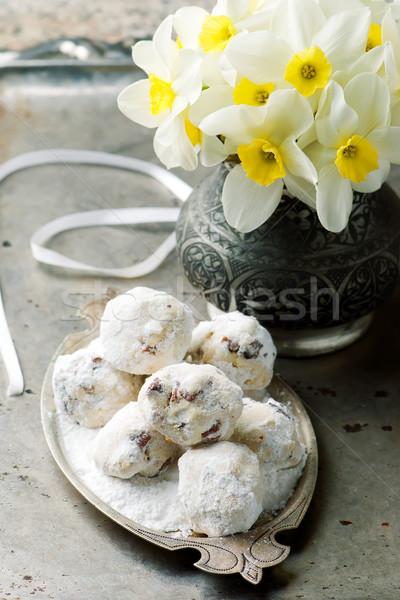 Zdjęcia stock: Mexican · ślub · słodkie · cookie · cookie · brązowy