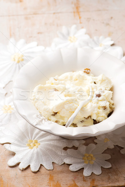 sweet curds with raisin for breakfast Stock photo © zoryanchik