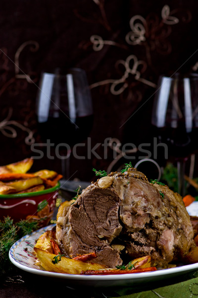 the baked pork gammon  Stock photo © zoryanchik